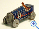 Antique Frensh Tinplate Racer Toy