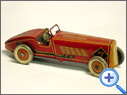 Antique METTOY Tinplate Racer Toy
