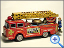 Vintage Battery Fire Brigade Tin Toy