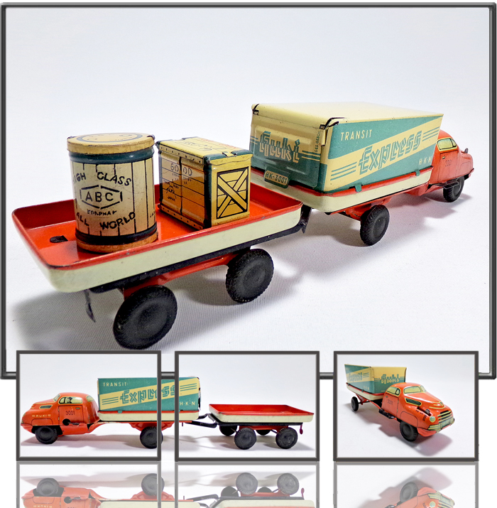 Express lorry made by HUKI, Germany, 1950s