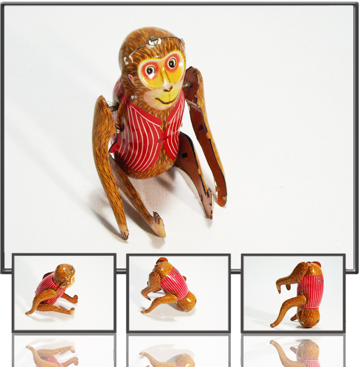 Acrobat monkey made by MS, China, 1960s