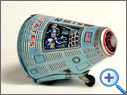 Vintage Friction Space Tin Toy