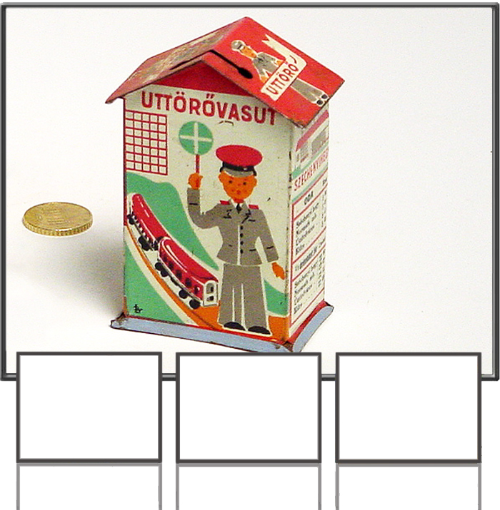 Railway money box made by LY*, Hungary, 1950s
