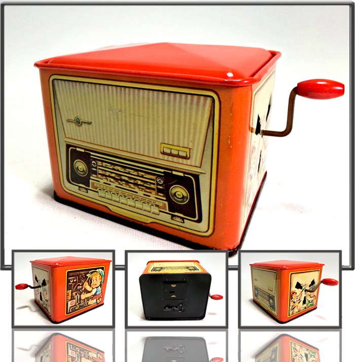 Radio money bank made by KR Zindorf, West Germany, 1960s